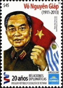 Stamp Uruguay 2013 - General Giáp (Vietnam)