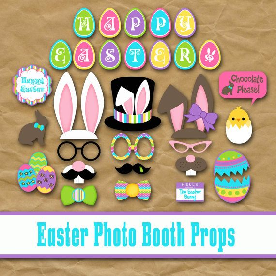 Happy Easter Photo Booth Props and Decorations by OldMarket