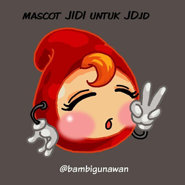JIDI mascot utk @jdid cewe unyu yg enjoy, gaul, smart dalam belanja, update dan canggih; mewakili cewe Asia termasuk Indonesia. #makejoyhappen #jdid #mascotdesign #mascotcompetition #mascot #unyu_korea #unyu2 #iliketowin #karyamasbambi