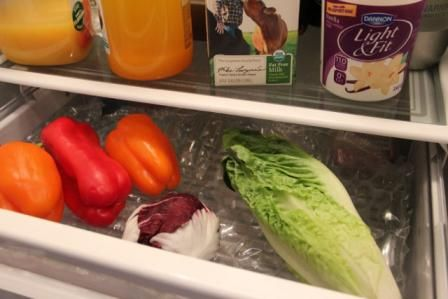 Protect produce with bubble wrap—keeps air circulating underneath AND it's easy…