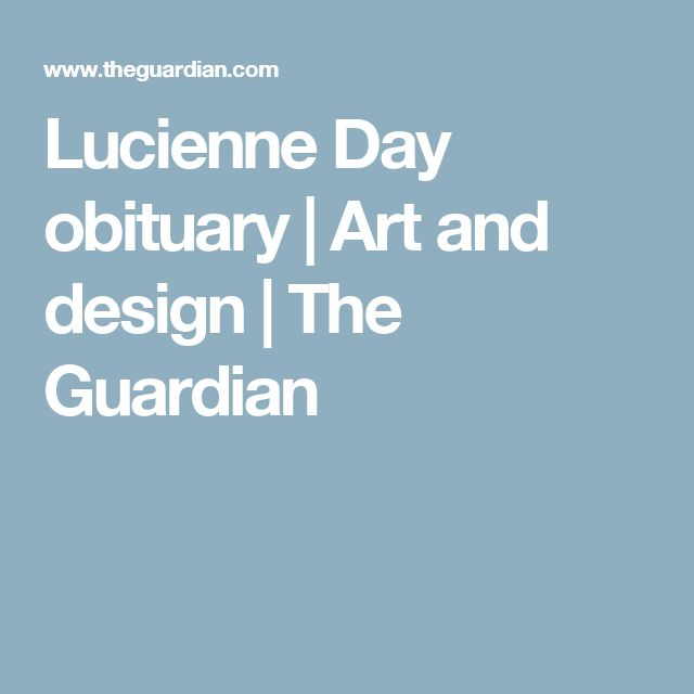 Lucienne Day obituary | Art and design | The Guardian