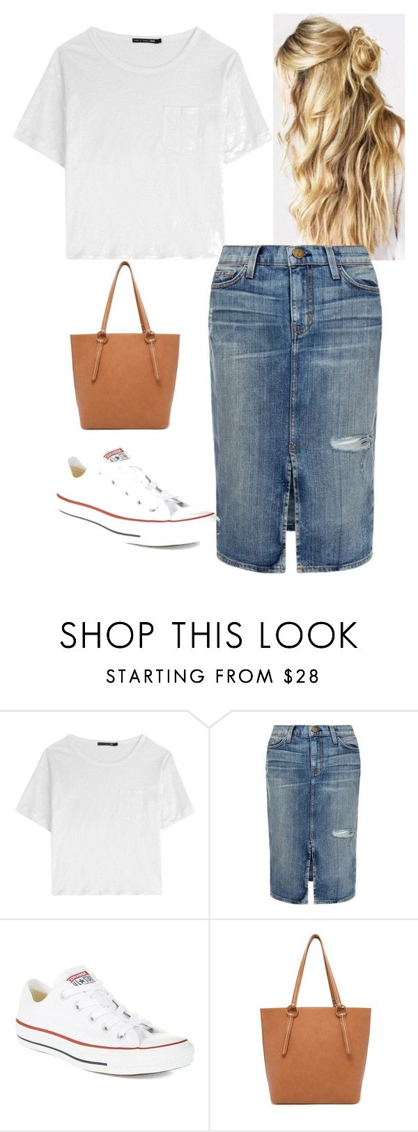 Casual Chic by apostolicgirl85 on Polyvore featuring rag & bone, Current/Elliott, Converse, Forever 21, women's clothing, women's fashion, women, female, woman and misses