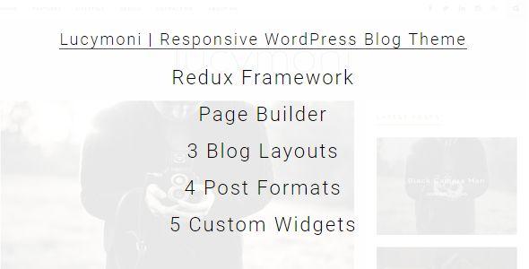Lucymoni |  Responsive WordPress Blogging Theme