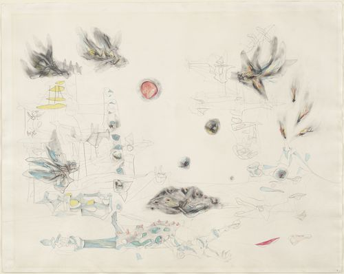 Roberto Matta. Condors and Carrion. 1941.   Pencil and crayon on paper. 23 x 29 in.  MOMA Collection