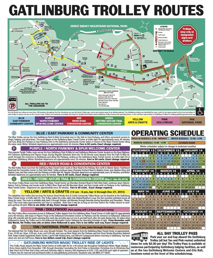 Map Of Gatlinburg Area : gatlinburg, Gatlinburg, Trolley, Trolley,, Tennessee,, Tennessee