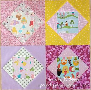 "Instructions for a 12.5"" (unfinished) economy quilt block 