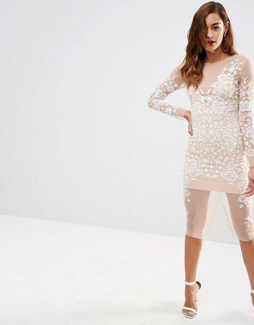 ASOS | ASOS Ergonomic Mesh Midi Dress