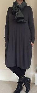Lagenlook-NEW-Diverso-Knitted-Jumper-Dress-Tunic-One-Size-fits-up-to-UK16