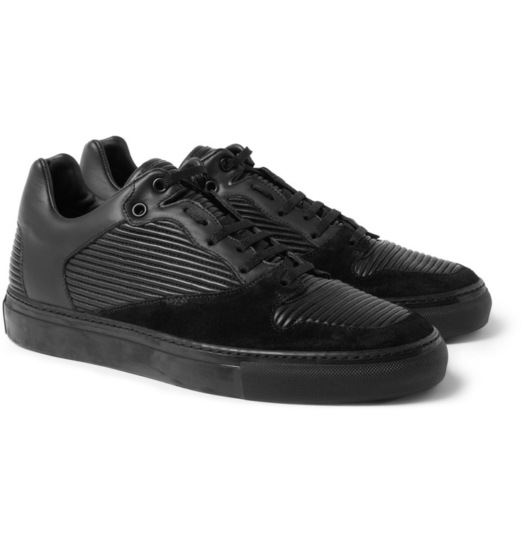 Love these all black Balenciaga Men's Paneled Leather Sneakers in all black.  Find this Pin and ...