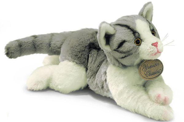 Grijze katten knuffels 30 cm