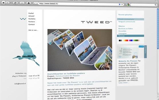 Website voor TWEED, bureau voor communicatie