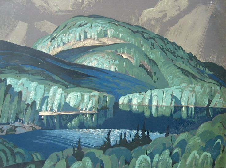 Alfred Joseph Casson (Canadian, 1898-1992), Poplar. Silkscreen, 30 x 40 in. (Group of Seven)