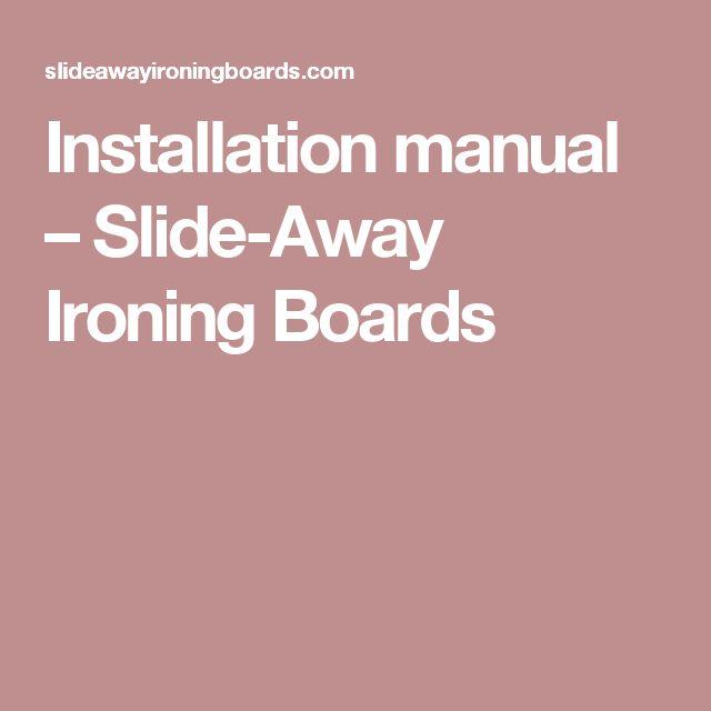Installation manual – Slide-Away Ironing Boards