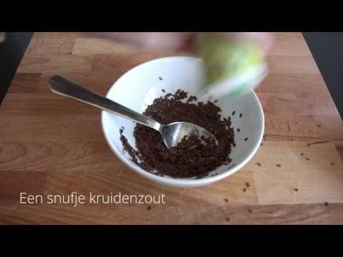 Zelf lijnzaadcrackers maken in 2 minuten! + video!