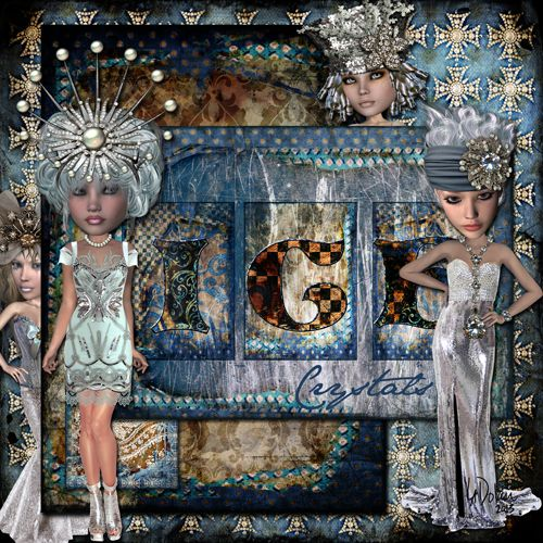 IceCrystals_web by Lisa Dolan Ice Crystals Art Dolls & Papers