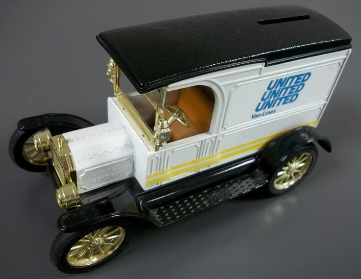 United Van Lines Vintage Moving Vehicle #toytruck #piggybank