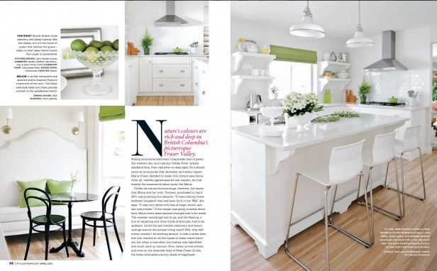 My White Kitchen Inside Style At Home Including The