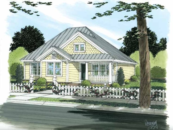 Best House Plans Images On Pinterest Small Houses - Craftsman style narrow house plans