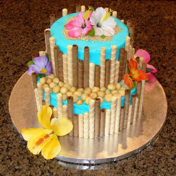 luau cake ideas | Hawaiian themed birthday cake