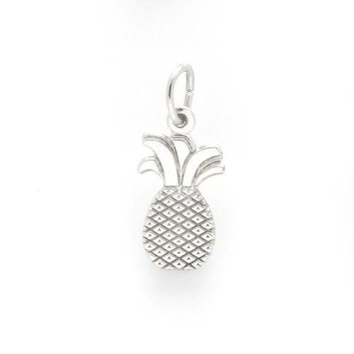 Pineapple Charm In Sterling Silver, Charms for Bracelets and Necklaces