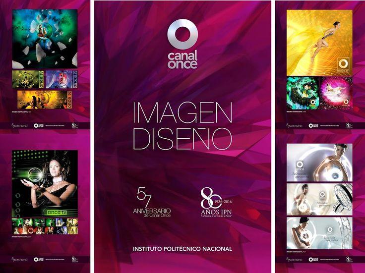 Canal Once muestra es una selección de imágenes representativas del diseño gráfico y la imagen en distintos momentos de la emisora.