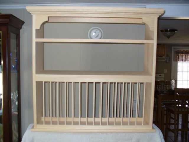 Organizer Crown moulding Wood cup Plate Dish Rack ART shelf Cabinet kitchen   eBay