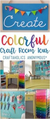 DIY Colorful Craft room studio space tour