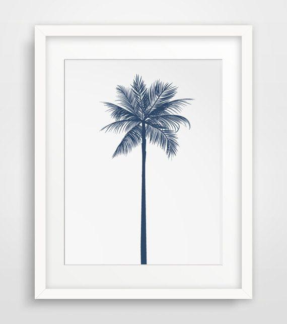 Palm Tree Decor Navy Wall Decor Navy Wall par MelindaWoodDesigns