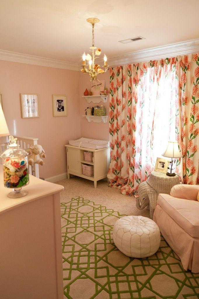 Modern prints in traditional pink #nursery