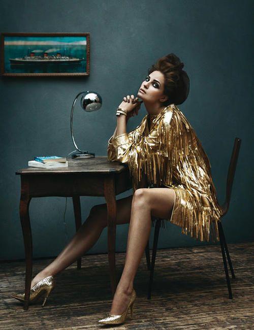 Madame Figaro #fashion #editorial #shooting #moda #fotografía #photography #gold #style