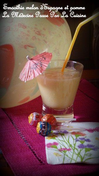 """Battle Food 20 : smoothie de melon d'eau et pomme pour une petite fille bien sage - par """"la médecine passe par la cuisine"""""""