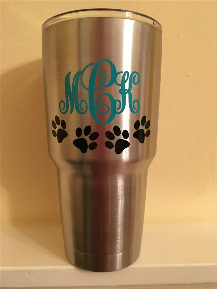 Best Cups Images On Pinterest Dog Mom Cricut Vinyl And Dogs - How to make vinyl decals for cups