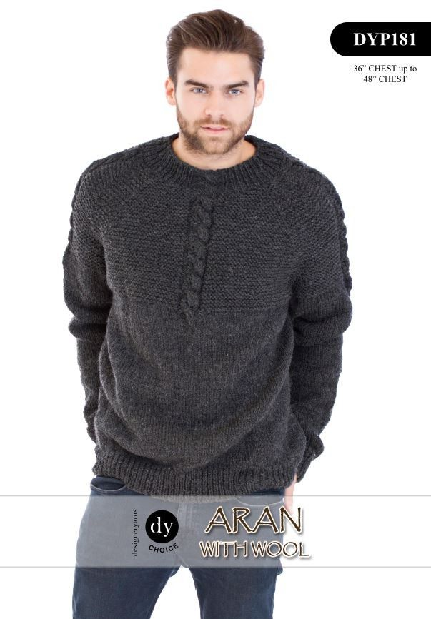 Mens Jumper in DY Choice Aran with Wool (DYP181) Digital Version | Deramores