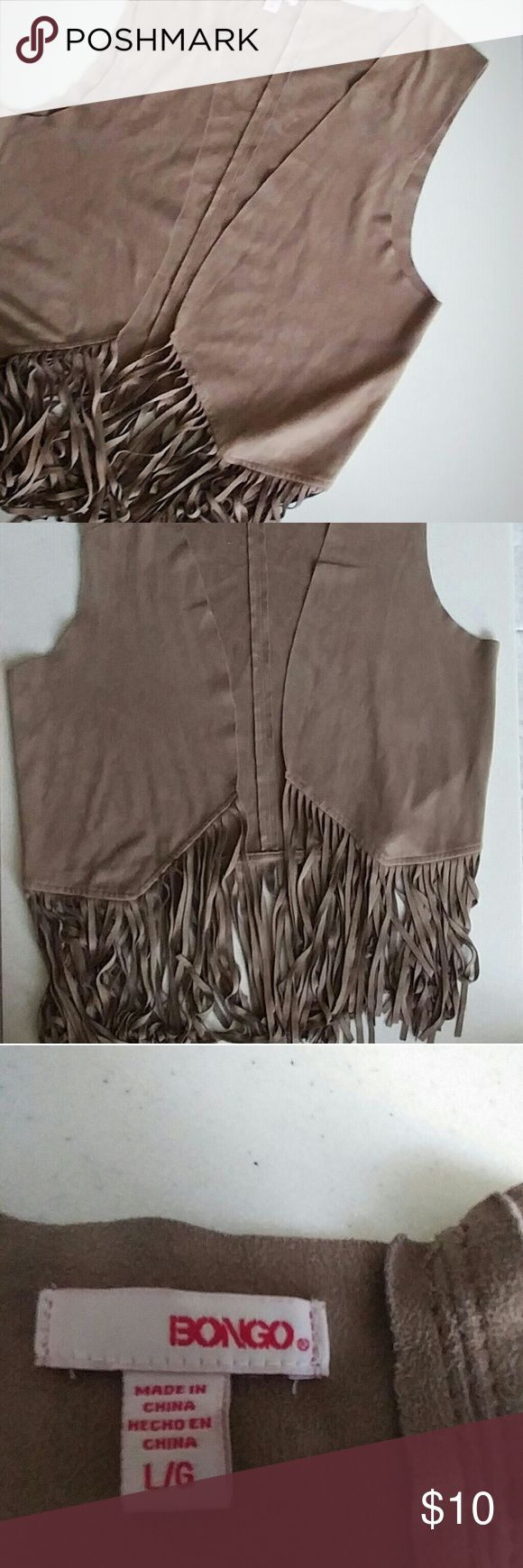 BONGO | Faux Suede Western Vest Beautiful vest in great condition! Great accesory for any outfit BONGO Jackets & Coats Vests