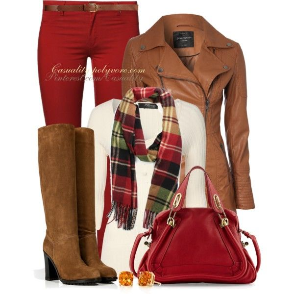 """Red Pants for Autumn"" by casuality on Polyvore"