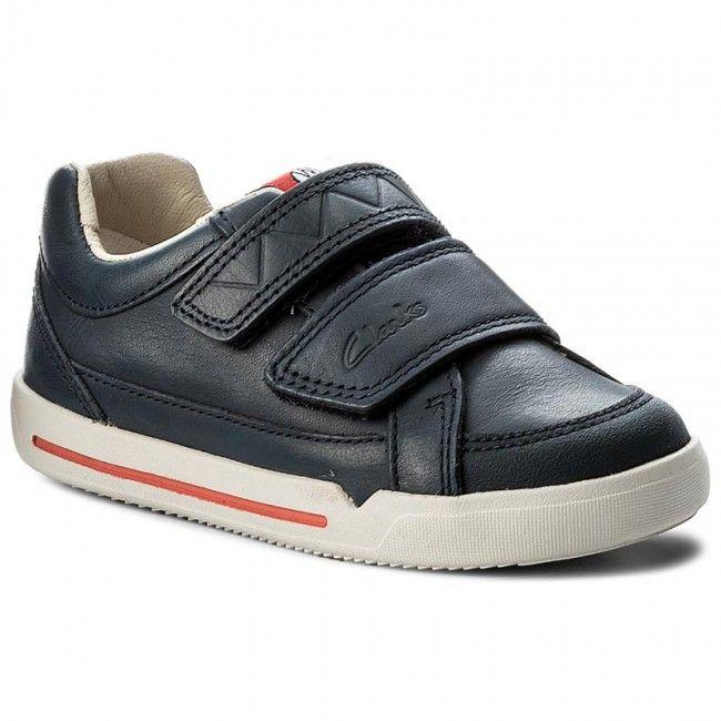 Félcipő CLARKS - Lilfolktobyinf 261270336 Navy Leather