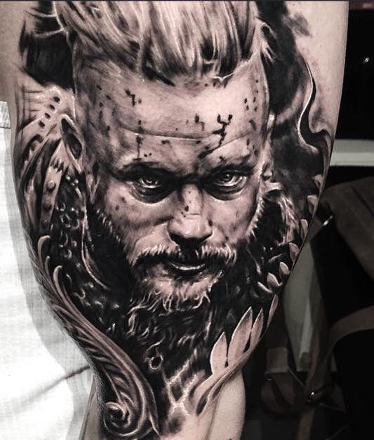 Amazing Ragnar tattoo