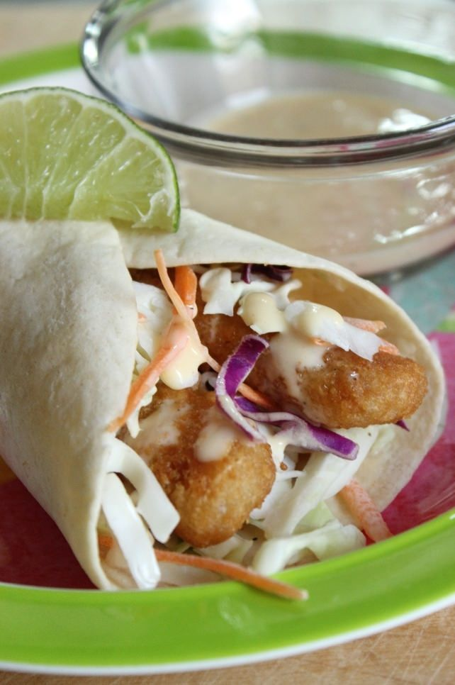 Fish Tacos With Crunchy Slaw This Was The Main Dish In