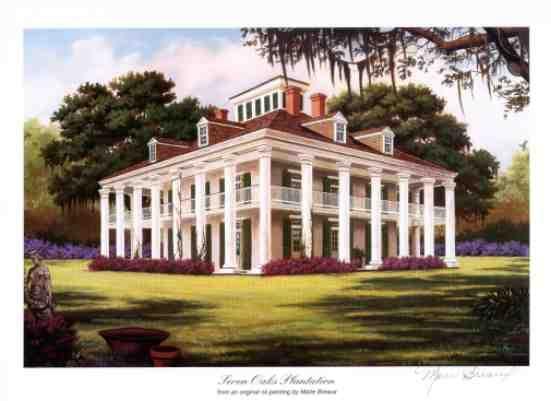 Plantation Homes Near Savannah Plantation Prints By