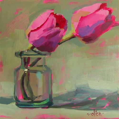 """Pink Tulips"" - Original Fine Art for Sale - © Patti Mollica"