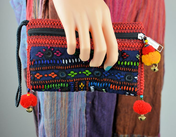Dark blue and red clutch bag,Sindhi embroidery bag,Handmade bags,Clutches,Evening bags,Banjara bags,Vintage Fabric bags,Pouches,Handbags by ZsTribalTreasures on Etsy