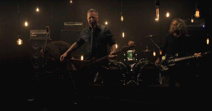 Watch Metallica Thrash in New 'Moth Into Flame' Video #headphones #music #headphones