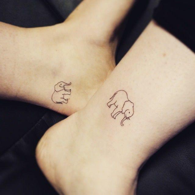 Thank you @jennifer_dowlingx #friend #friendship #couple #coupletattoo #elephant #linetattoo #tattoo #tattoodesign #simpletattoo #smalltattoos #tattoo…