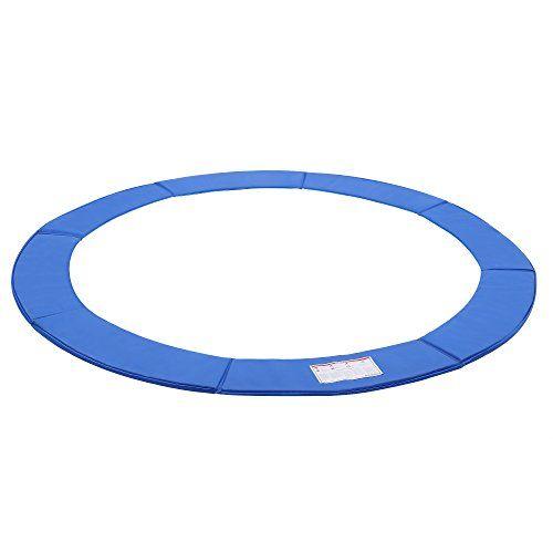 SONGMICS Coussin de protection pour Trampoline ø244 cm/305 cm/366 cm en PVC Bleu Largeur 30 cm Épaisseur 2 cm Anti-UV STP8FT/10FT/12FT…
