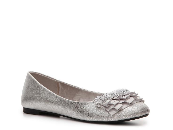 Silver Flats For Bridesmaids Shoes Pinterest