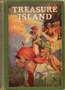 Treasure Island.  by Robert Louis Stevenson Young Jim Hawkins finds himself the owner of a map to Treasure Island, where the fabled pirate booty is buried. Honest Captain Smollett, heroic Dr. Livesey, and the good-hearted Squire Trelawney help Jim on his quest for the treasure...
