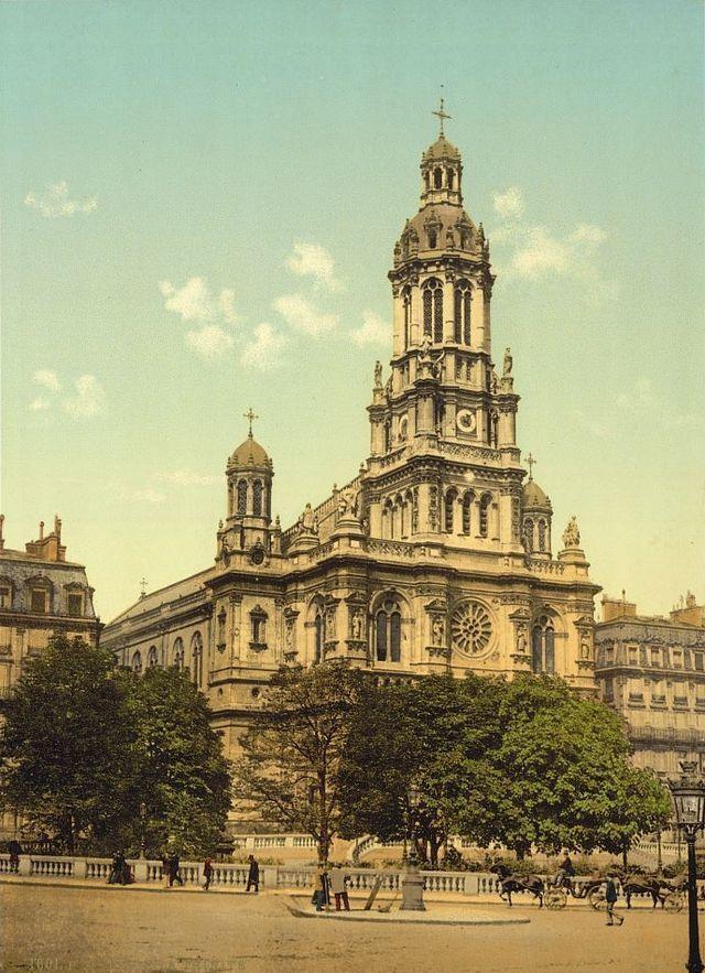 The church of Sainte-Trinité. Built during 1861 and 1867 as part of Baron Haussmann's beautification of Paris
