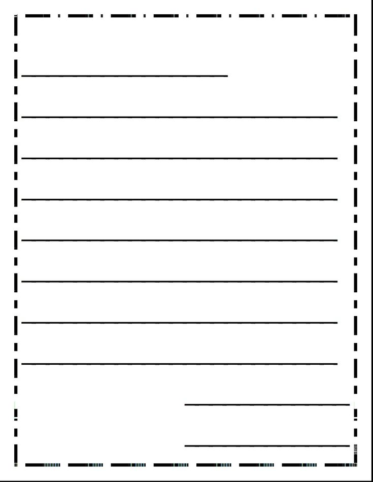Free letter writing paper for first grade printable for Letter writing template for first grade