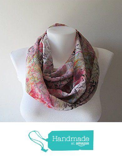 Leaf Pattern Infinity Scarf, Colorful Chiffon Scarf, Leaves Scarf, Women Scarf, Circle Scarf, Loop Scarf, Spring Summer Fashion, Soft Colors from NaryaBoutique https://www.amazon.com/dp/B01HN62K5G/ref=hnd_sw_r_pi_dp_OEW0ybYMPBG49 #handmadeatamazon