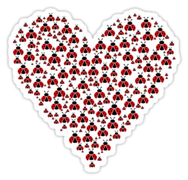 Ladybugs in a heart shape by Stock Image Folio